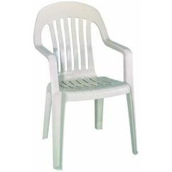 White Plastic Patio Chairs Stackable Swivel Chair Bunnings Best Buy Adams Mfg Co Trad Clay Stack 8255 23 3700 Resin