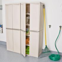 Sterilite 01428501 4Shelf Utility Cabinet with Putty