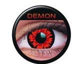 Farbige Kontaktlinsen crazy Kontaktlinsen crazy contact lenses Demon Dämon 1 Paar mit Kontaktlinsenbehälter