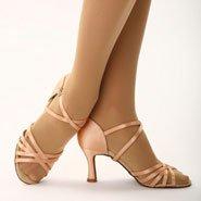 "Capezio ballroom dance shoe with 2.5"" flared heel"