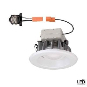Commercial Electric 4 in Recessed White LED Trim T40 8