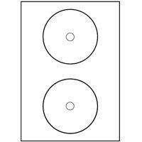 200 CD LABELS 117 MM AS ZWECKFORM 7676-100 KING SIZE L