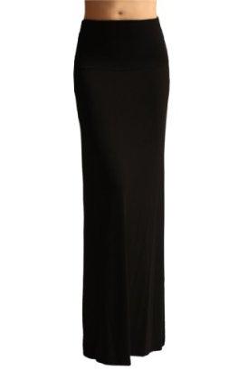 Azules-Womens-Maxi-Skirt-Black-Medium