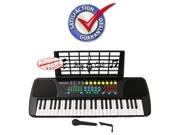 Children 49 Keys Electronic Piano Music Keyboard Black, KB49PK