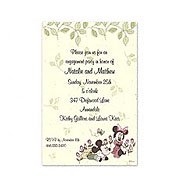 Mickey & Minnie Roses Wedding Invitations