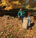 Bagging leaves or glass clippings made much easier
