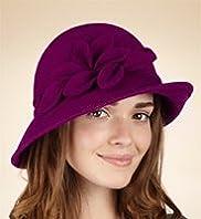 Per Una Pure Wool Leaf Scroll Cloche Hat