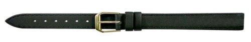 Apollo 10mm Uhrenarmband Leder schwarz, Unterseite Nubuck
