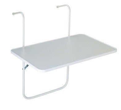 BOY Balkon-Hängetisch Tisch 60x40 cm klappbar weiß Best Möbel