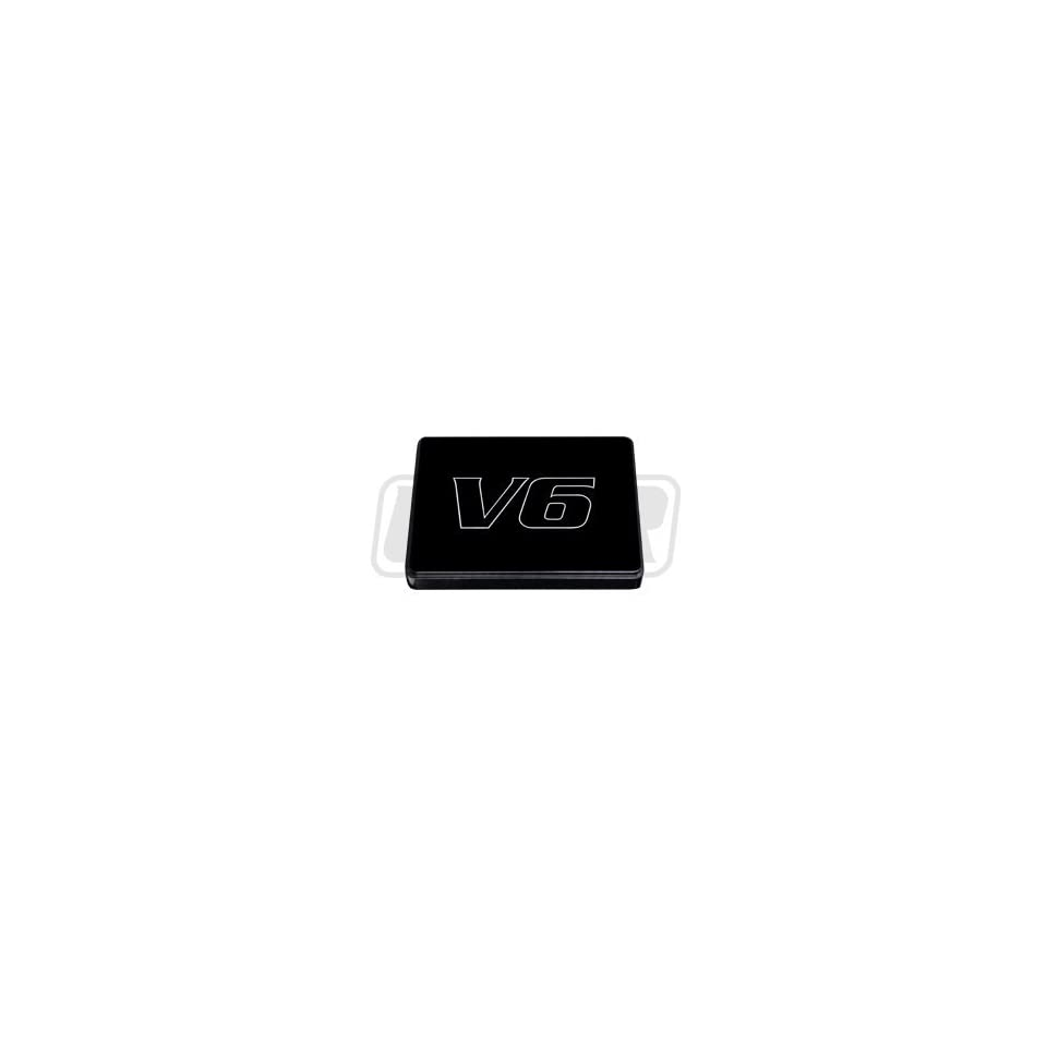 hight resolution of 98 04 mustang black billet fuse box cover with v6 engraving
