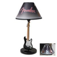 Fender Black and White Guitar Table Lamp