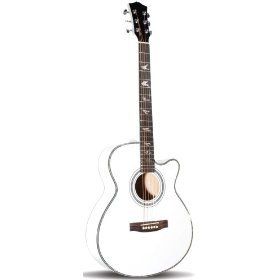 Martin Smith Single Cutaway Acoustic Guitar. White