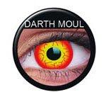 Farbige Kontaktlinsen crazy Kontaktlinsen crazy contact lenses rot Darth Maul Feuer 1 Paar mit Linsenbehälter!