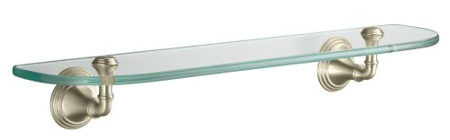 KOHLER K-10563-BN Devonshire Glass Shelf, Vibrant Brushed Nickel