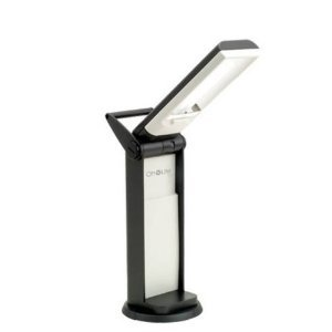 OttLite L139AB Task Lamp with Swivel Base in Black