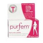 PurFem Probiotic (10 vaginal suppositories) Brand: Purfem ...
