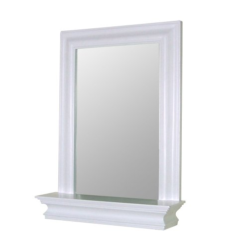 NEW Wall Framed BathroomBedroom White Wood Mirror W Edge