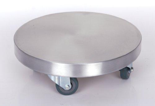 Möbelroller / Pflanzenroller Ø 30 cm, ALU, 150kg, PUroller Rolle + Bremse
