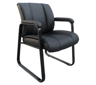 OfficeMax Bellanca Luxury Guest Chair Black OM02483