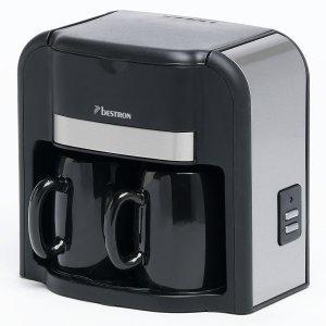 kompakte kaffeemaschine inkl 2 tassen ideal beim. Black Bedroom Furniture Sets. Home Design Ideas