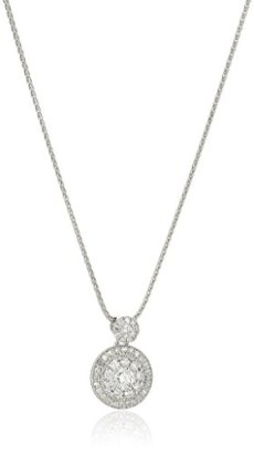 14k-White-Gold-Circle-Cluster-Diamond-Pendant-Necklace13cttw-H-I-Color-I2-Clarity-18