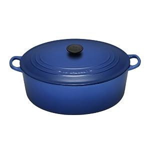 Le Creuset Enameled Cast-Iron 6-3/4-Quart Oval French Oven, Cobalt Blue