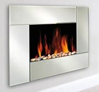 Wall Mounted Electric Fireplace/ San Remo Mirror Front ...