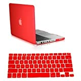 Dealgadgets Red Frosted Matte Surface Crystal Hard Shell Case for MacBook Pro 13