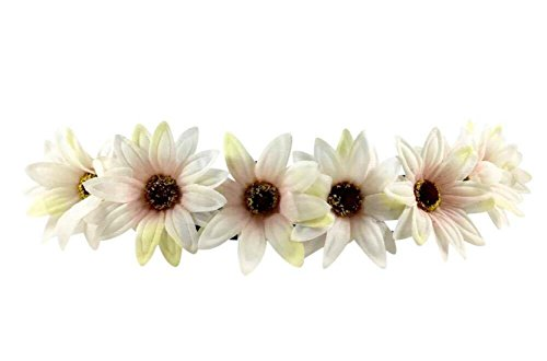 Festie Fever Light Up White and Yellow Flower Crown with 3 Modes
