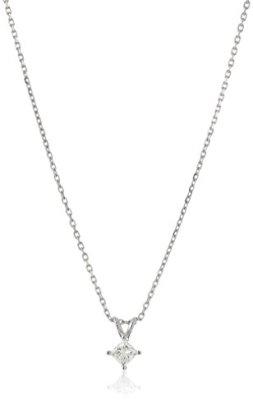 14k-Gold-Princess-Cut-Diamond-Solitaire-Pendant-Necklace-K-L-Color-I1-2-Clarity-18