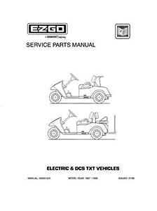 Amazon.com : EZGO 28405G01 1997-1998 Service Parts Manual