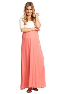 PinkBlush-Maternity-Chiffon-Colorblock-Maxi-Dress