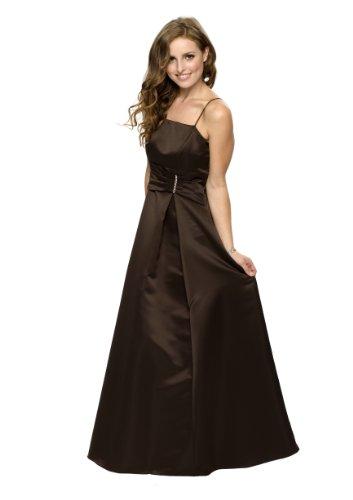 Astrapahl, Elegantes langes Abendkleid, Farbe braun, Gr.46