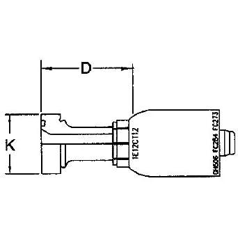 EATON AEROQUIP 4-WIRE SPIRAL TTC12 CRIMP FITTING: Amazon