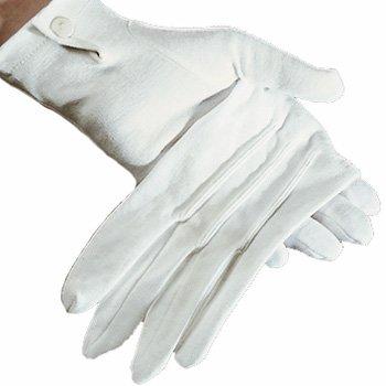 Damen-Handschuhe weiß mit Knopf