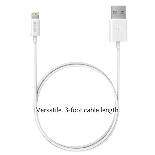 iPhone charger, Anker Lightning to USB Cable (3ft) for