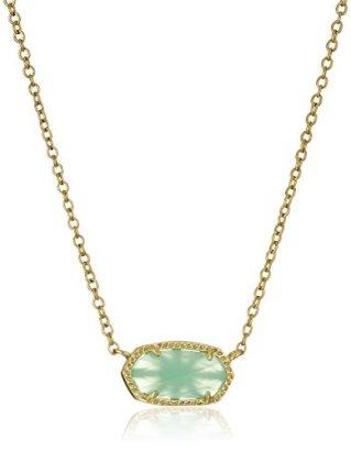 Kendra-Scott-Signature-Elisa-Gold-plated-Chalcedony-Glass-Pendant-Necklace