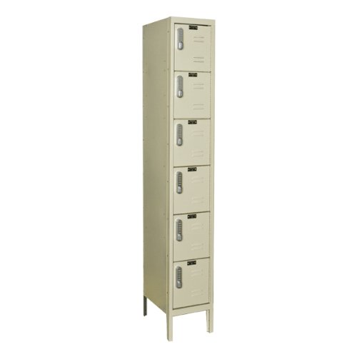 Hallowell One-Wide Six-Tier Lockers w/ Electronic Lock - Assembled (12