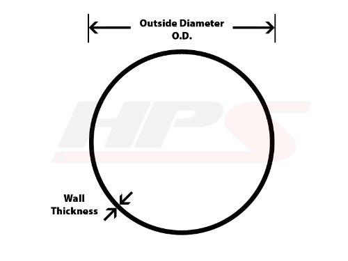 HPS AST-250 6061 T6 Seamless Aluminum Round Straight