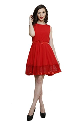 lee marc red frock