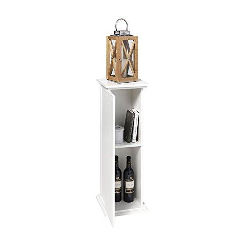 FMD Möbel 641-002 Dekosäule Holz, weiß, 30 x 30 x 89 cm