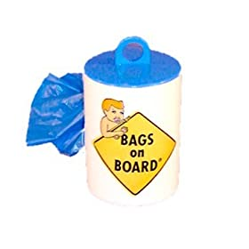 Bags on Board Disposable Diaper Bags (Dispenser-24 bags)