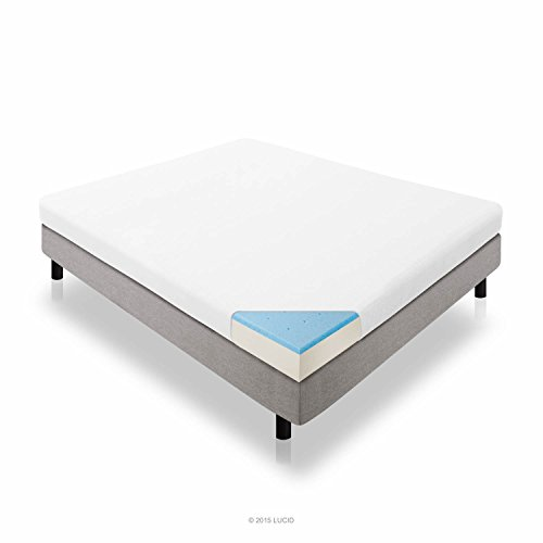 LUCID 5 Inch Gel Memory Foam Mattress - Dual-Layered - CertiPUR-US Certified - Firm Feel - Twin Size