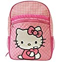 Sanrio Pink Satin Hello Kitty Large School Backpack with Polk a Dots