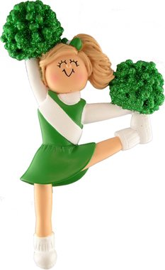 Green Uniform Cheerleader Figurine