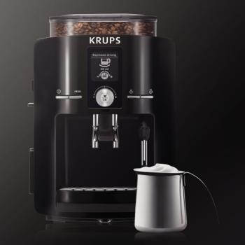 315y6ka+e L - KRUPS EA8250001 Espresseria Fully Automatic Espresso Machine with Built-in Conical Burr Grinder, Black