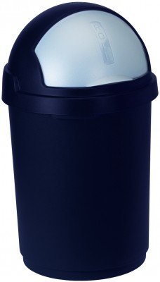 Abfallbehälter Roll-Top, 50 L dunkelblau / silber