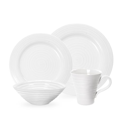 Sophie Conran by Portmeirion 4-Piece White Dinnerware Place Setting, Service for 1