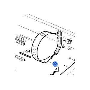 Volvo Truck Fuel Tank Strap Bracket RH 21076947 : Fuel Caps