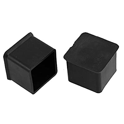 rubber chair protectors rentals sacramento fly shop square covers furniture black 10pcs